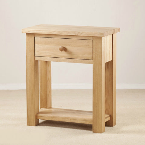 Clifton Oak 1 Drawer Console Table