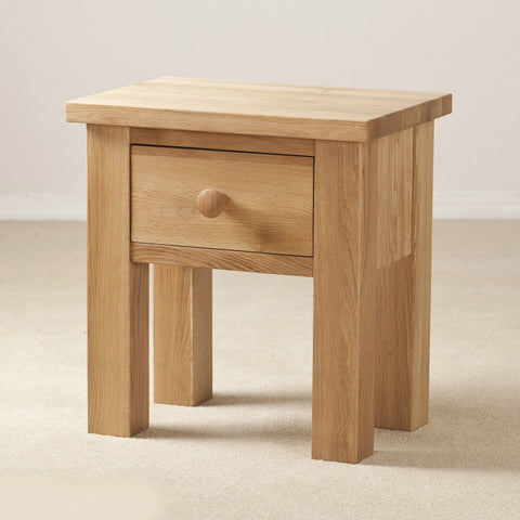 Clifton Oak 1 Drawer Side Table
