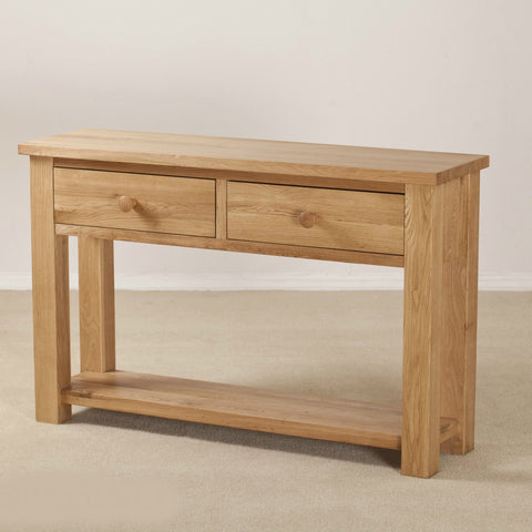 Clifton Oak 2 Drawer Console Table