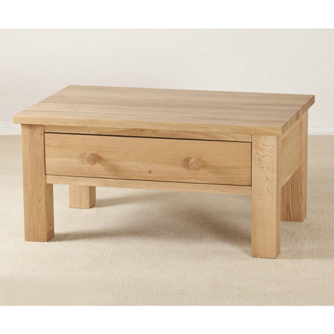 Clifton Oak 1 Drawer Coffee Table