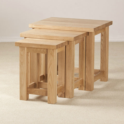 Clifton Oak Nest Of Tables