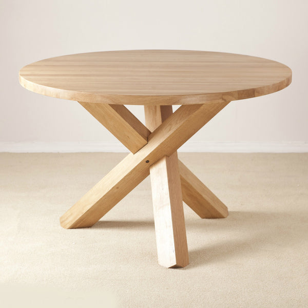 Clifton Oak Round Table Quarter Solid Wood Furniture