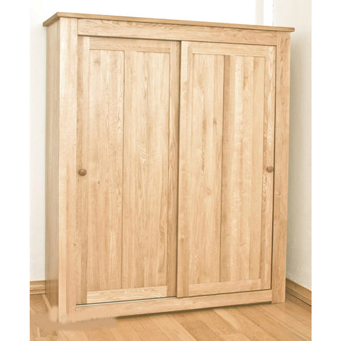 Clifton Oak Wardrobe With Sliding Doors