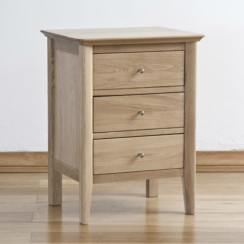 Cotham Oak 3 Drawer Bedside