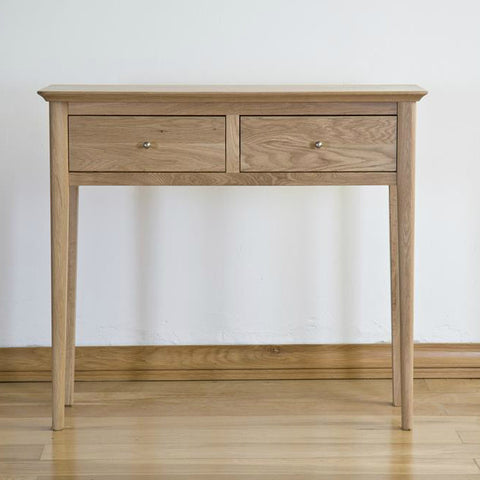 Cotham Oak 2 Drawer Console Table