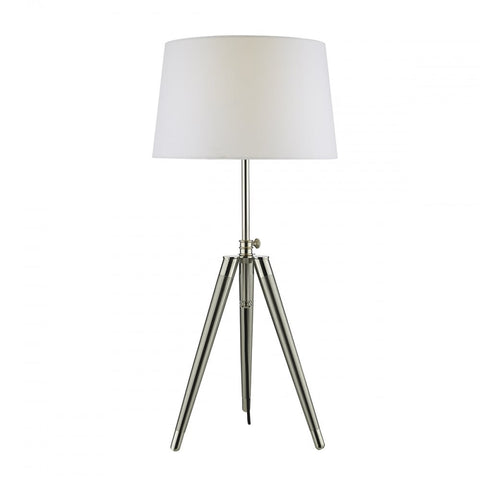 Dacia Brushed Nickel Table Lamp