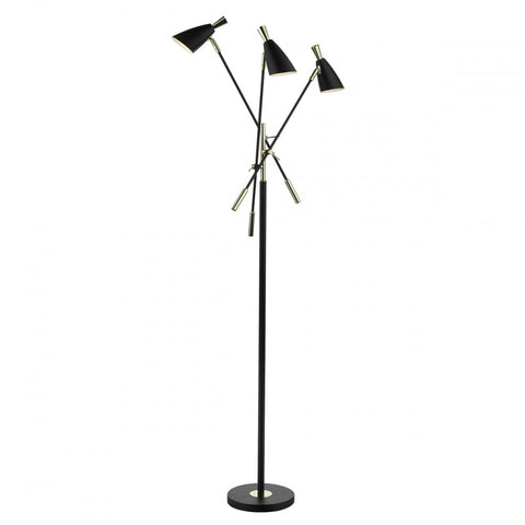 Diego Black And Gold Floor Lamp