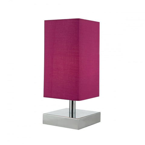 Drayton Polished Chrome And Pink Table Lamp