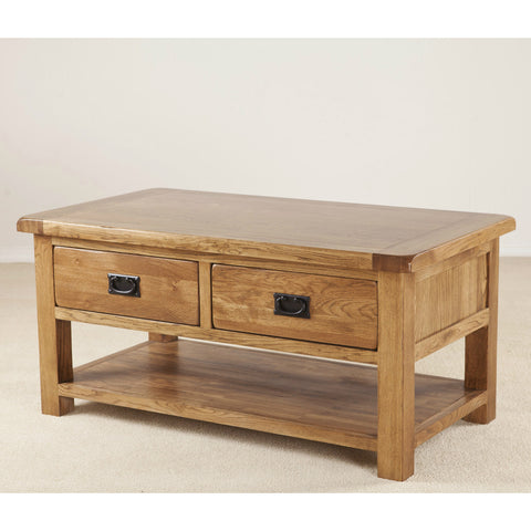 Durdham Oak Coffee Table With Drawers