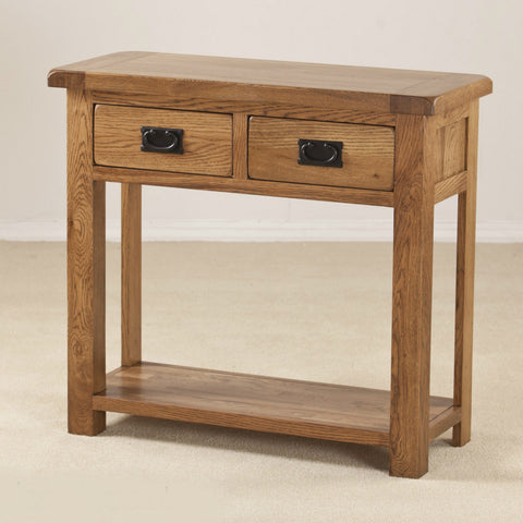 Durdham Oak 2 Drawer Console Table