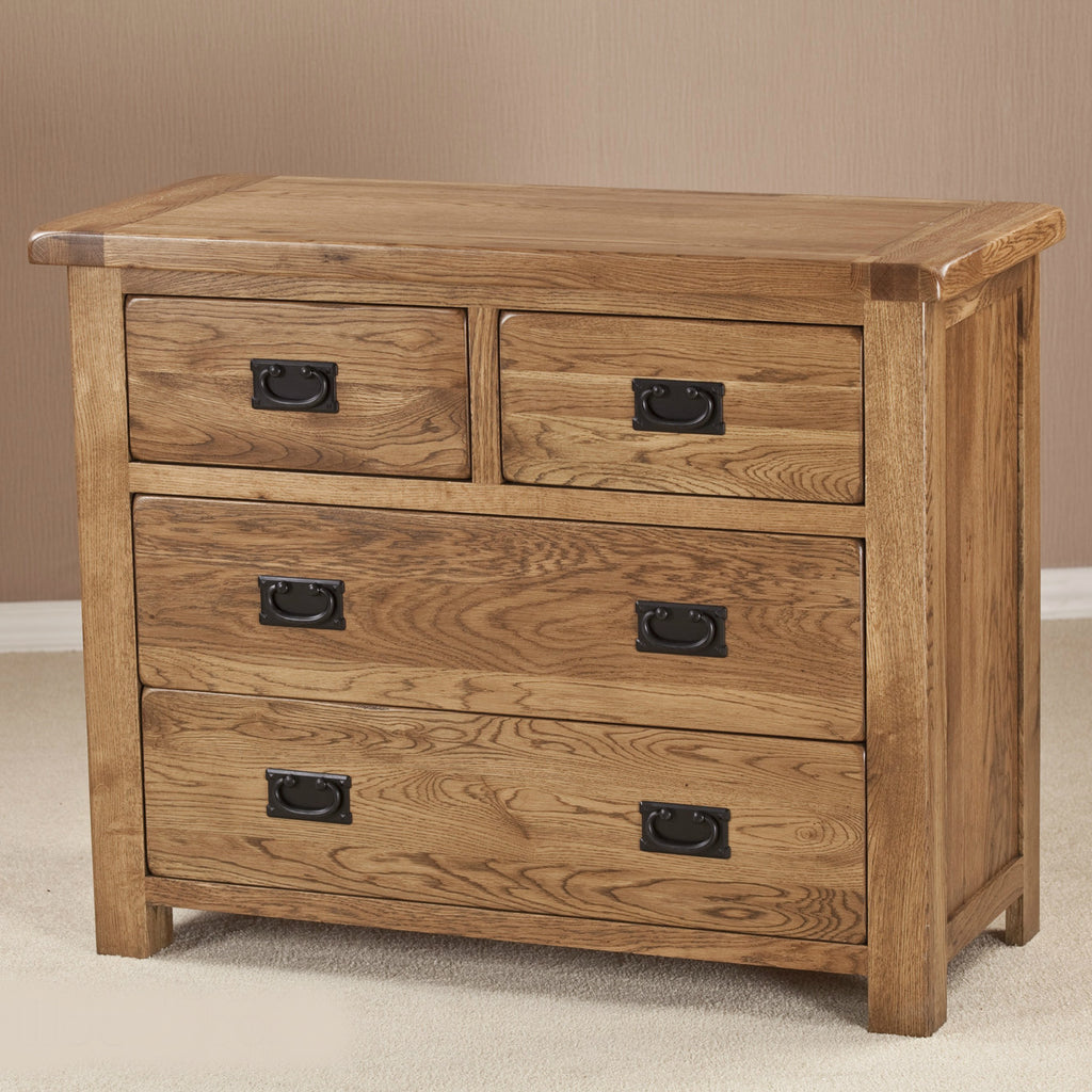 durdham oak 4 drawer chest quarter solid wood furniture