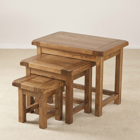 Durdham Oak Small Nest Of Tables