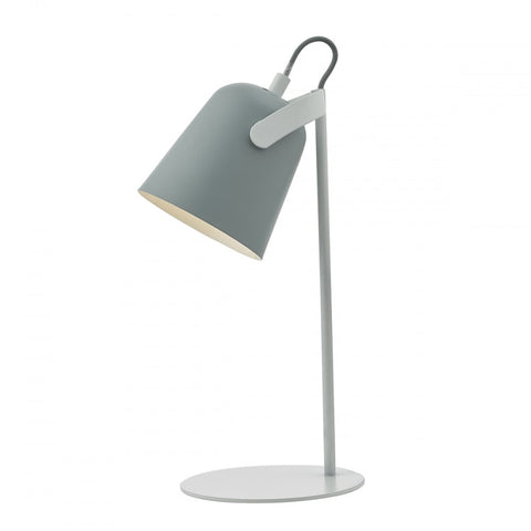 Effie Grey And White Table Lamp