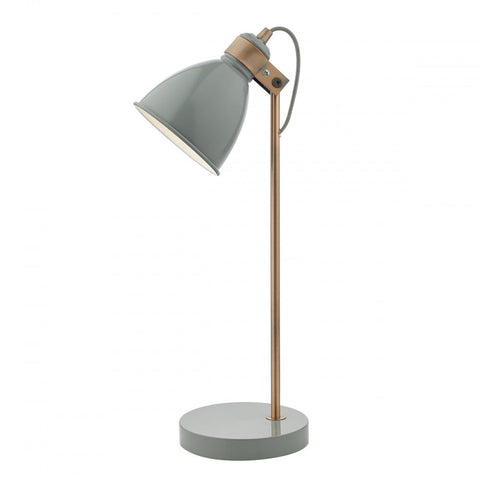 Frederick Grey And Copper Table Lamp