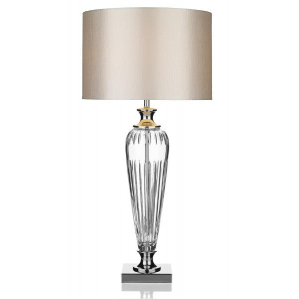 Hinton Crystal Table Lamp With Shade from Quarter Furniture