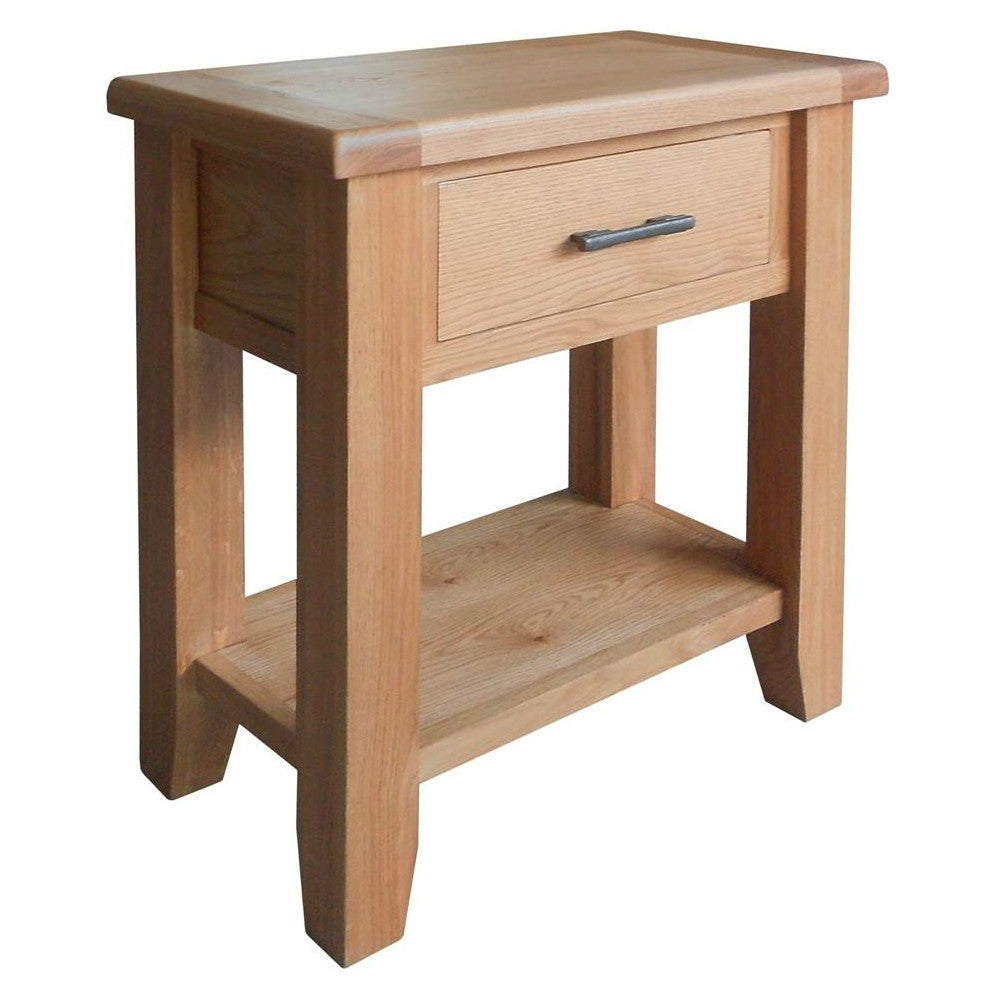 Hampton Oak 1 Drawer Console Table from Quarter Furniture