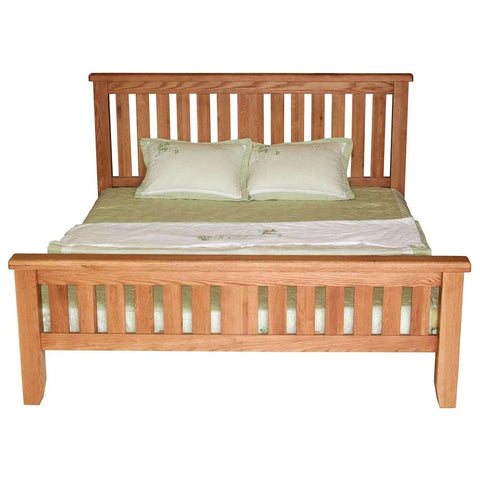 Hampton Oak Bed High Foot End