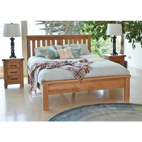 Hampton Oak Bed Low Foot End