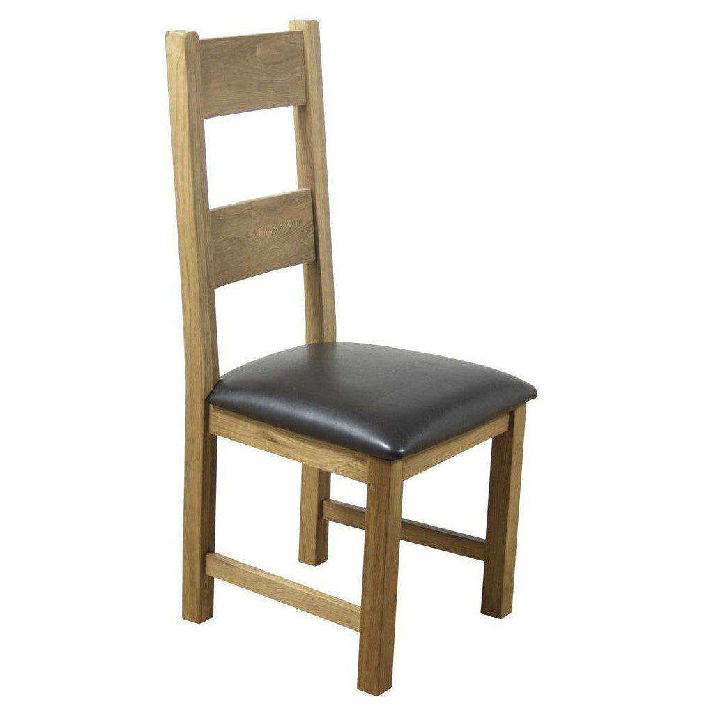 Hampton Oak Chair With Padded Seat from Quarter Furniture