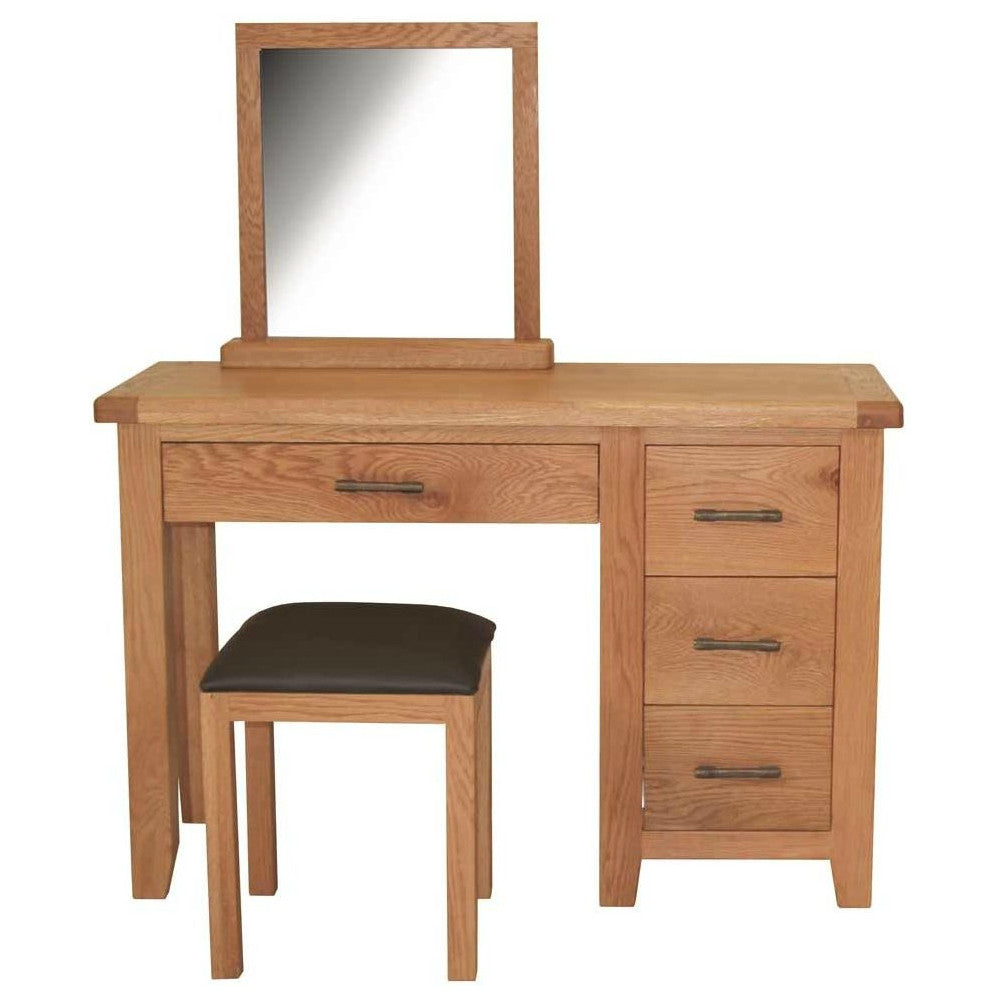Hampton Oak Dressing Table Set from Quarter Furniture