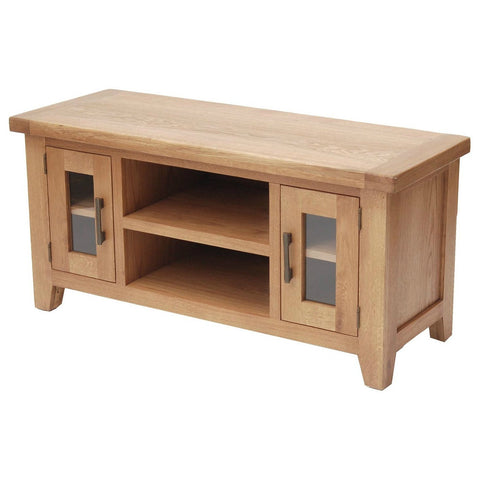 Hampton Oak Large AV Unit