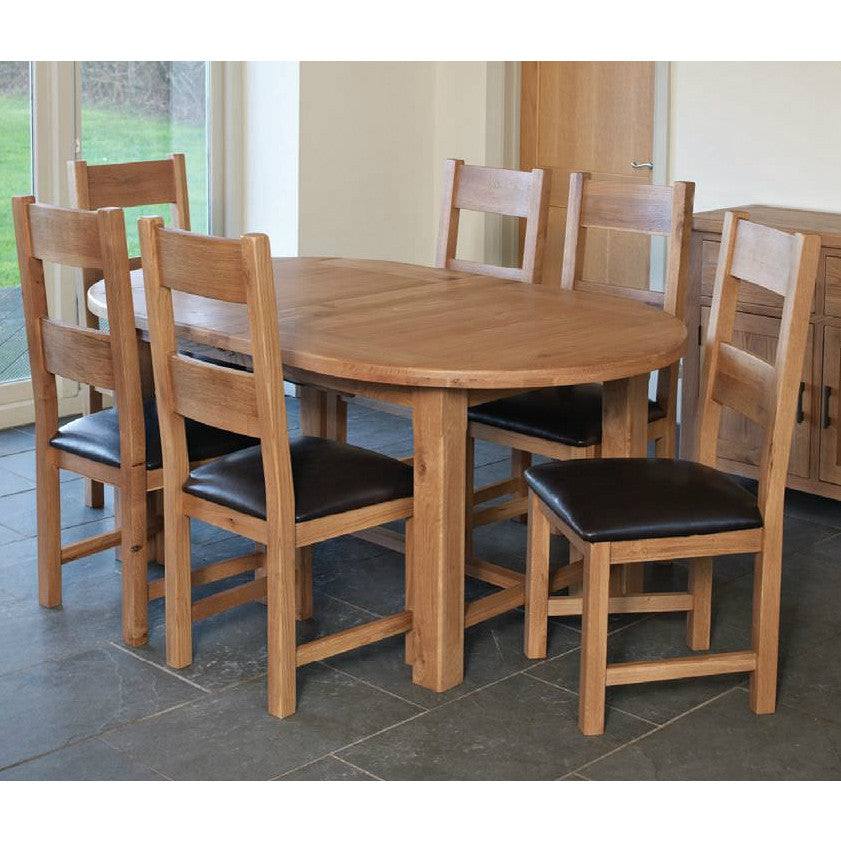 Hampton Oak Oval Extending Dining Table from Quarter Furniture