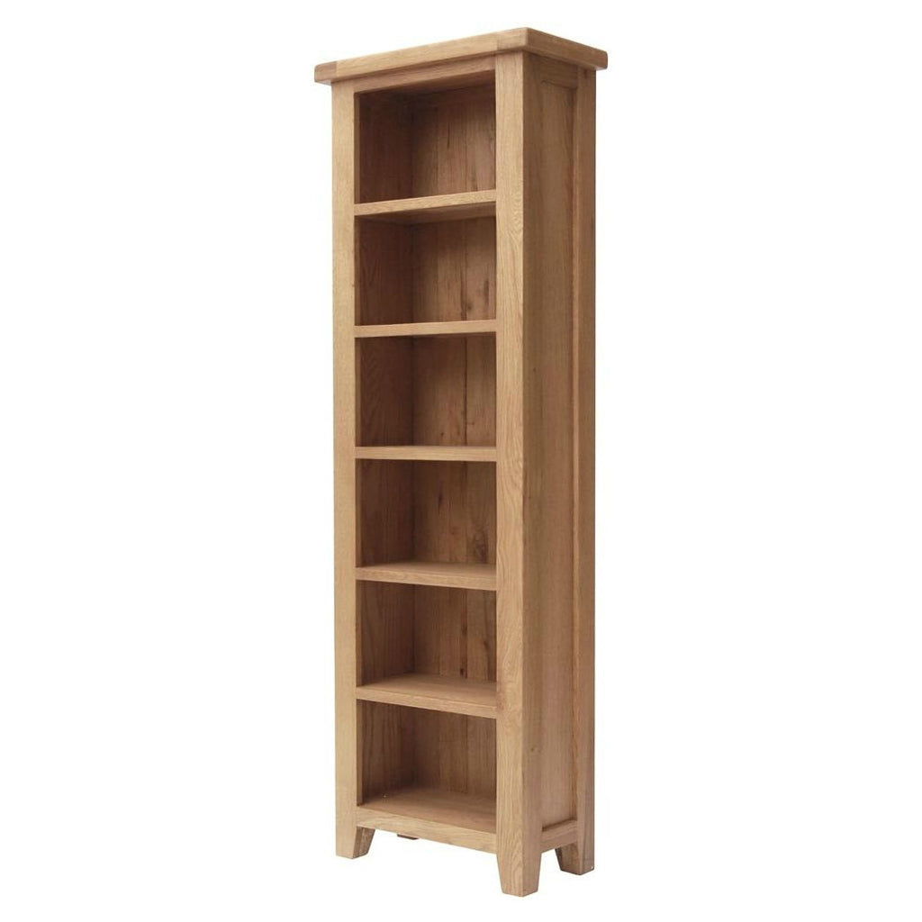 Hampton Oak Slim Bookcase from Quarter Furniture