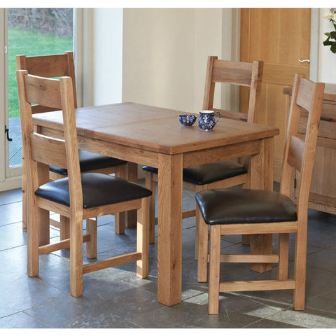 Hampton Oak Small Extending Dining Table *ex display*