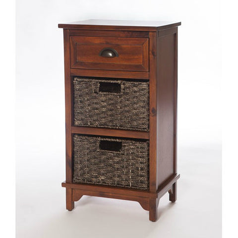 Libra Dark 3 Drawer Storage Unit