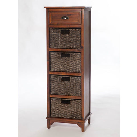 Libra Dark 5 Drawer Storage Unit