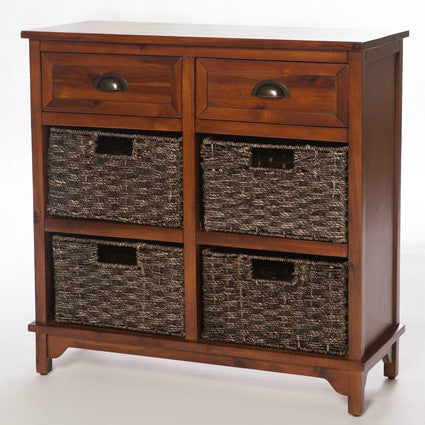 Libra Dark 6 Drawer Storage Unit