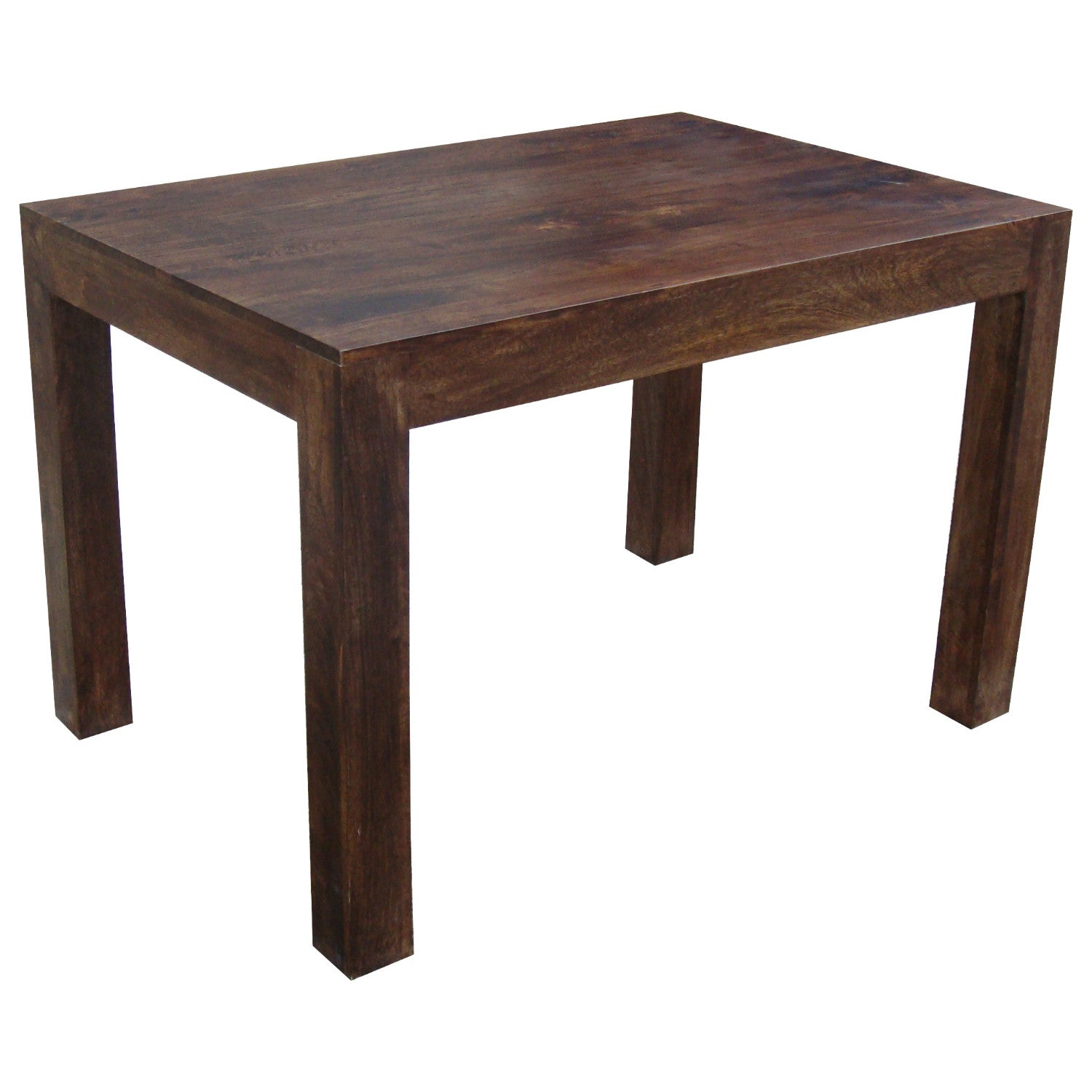Mango wood dark 120x80 dining table quarter solid wood for Table 120x80