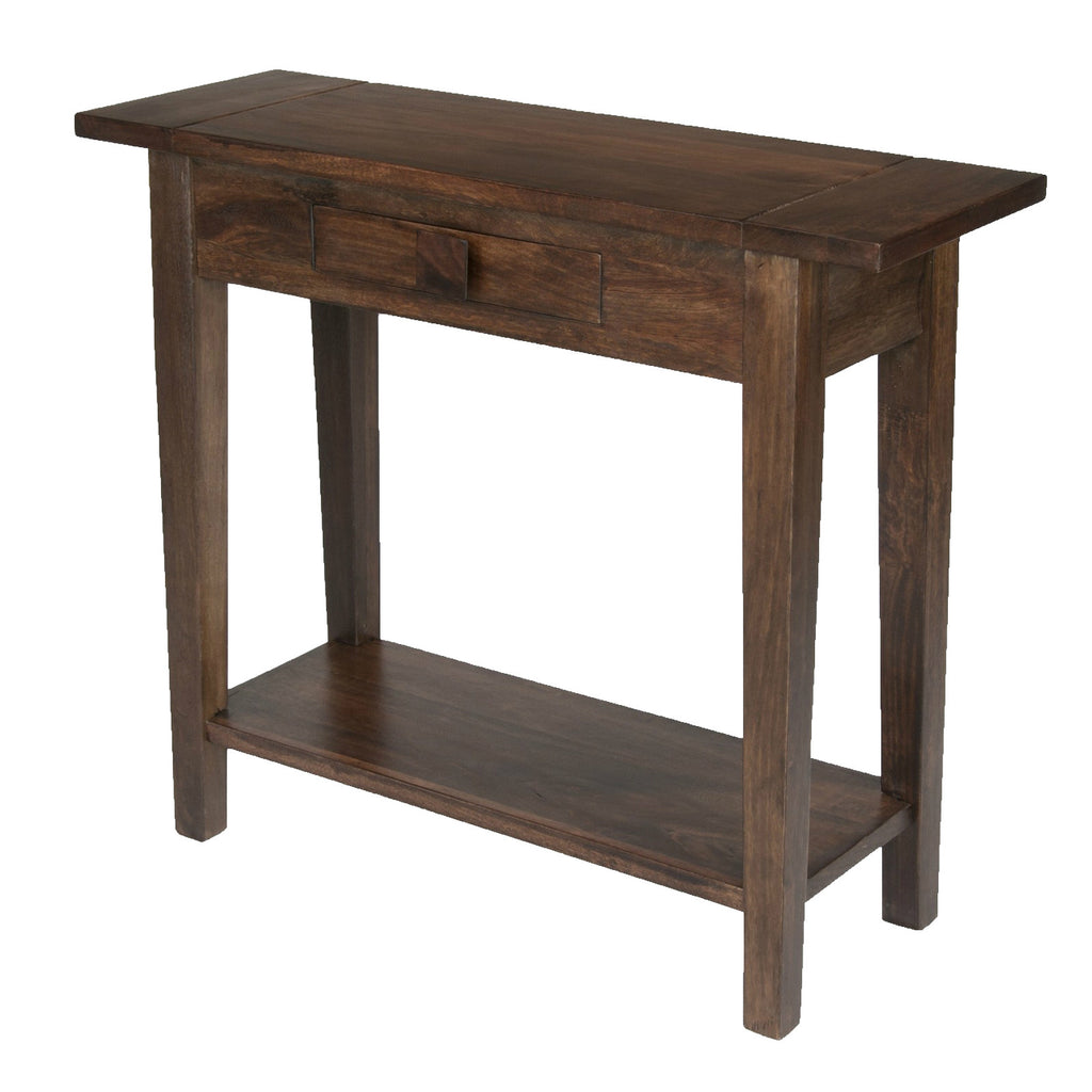Mango Wood Dark 1 Drawer Console Table from Quarter Furniture