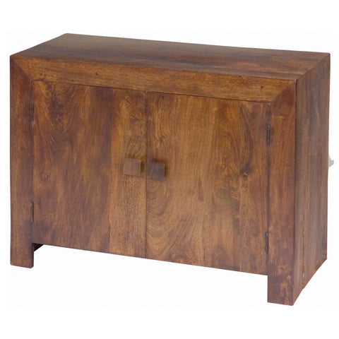 Mango Wood Dark 2 Door Sideboard