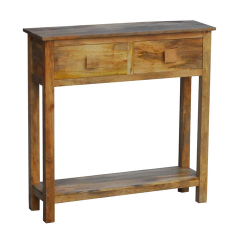 Mango Wood Light Small Console Table