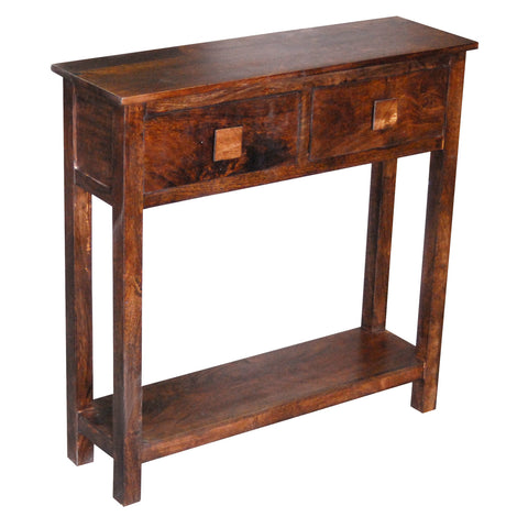 Mango Wood Dark Small Console Table