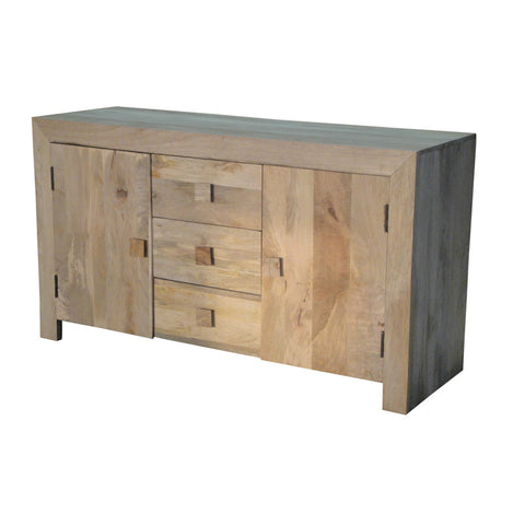 Mango Wood Light 2 Door 3 Drawer Sideboard