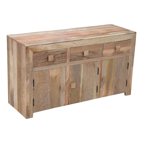 Mango Wood Light 3 Door 3 Drawer Sideboard