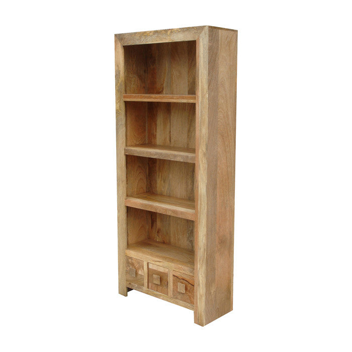 Mango Wood Light Tall Bookcase From Quarter Furniture