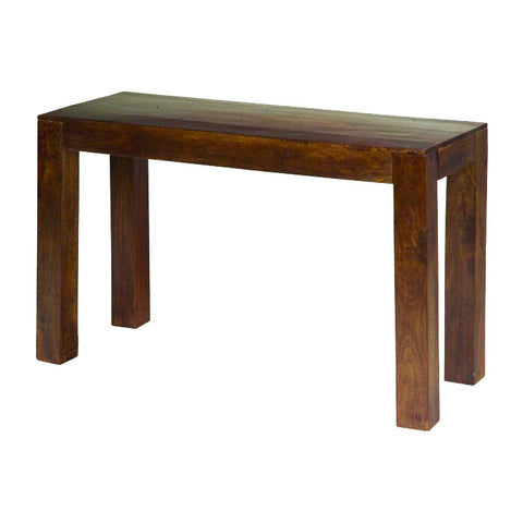 Mango Wood Dark Console Table
