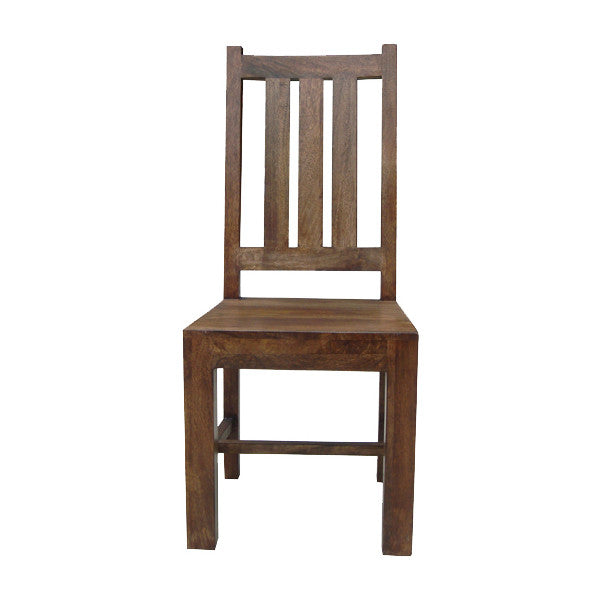 Mango Wood Dark Flat Chair from Quarter Furniture