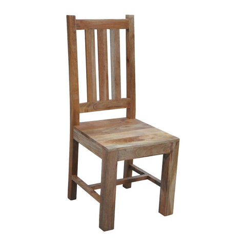 Mango Wood Light Flat Chair *ex display* Last One