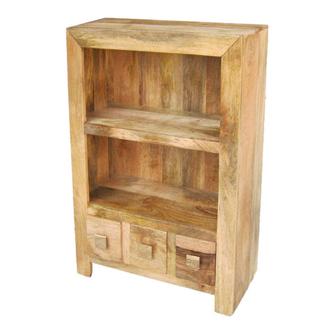 Mango Wood Light Low Bookcase