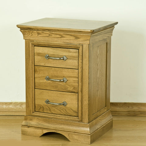 Montpelier Oak 3 Drawer Bedside