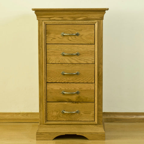 Montpelier Oak 5 Drawer Slim Chest