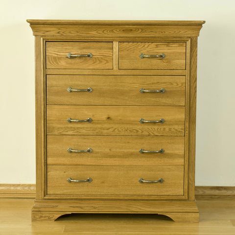 Montpelier Oak 6 Drawer Chest
