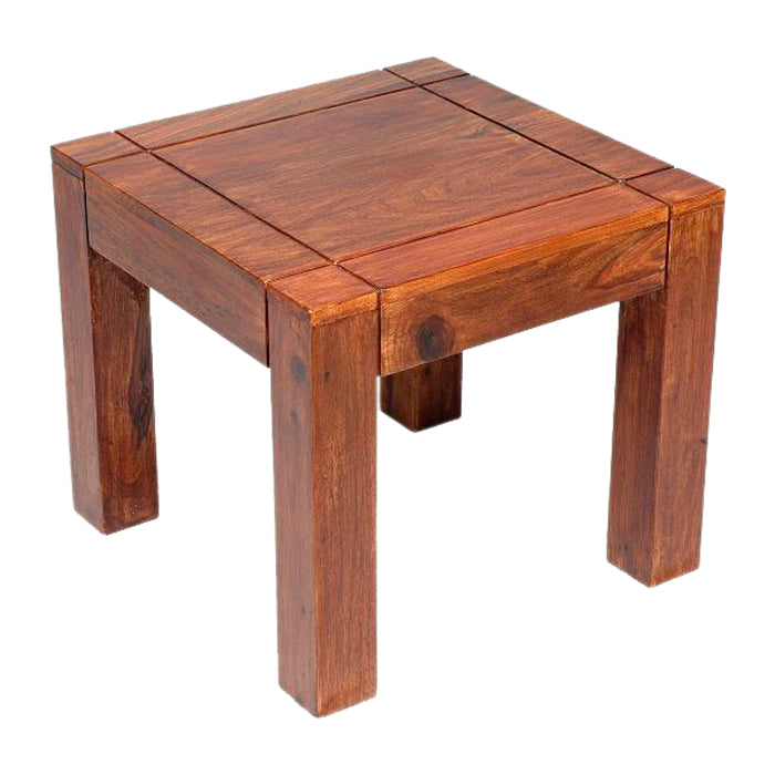 Sheesham Groove Small Side Table from Quarter Furniture