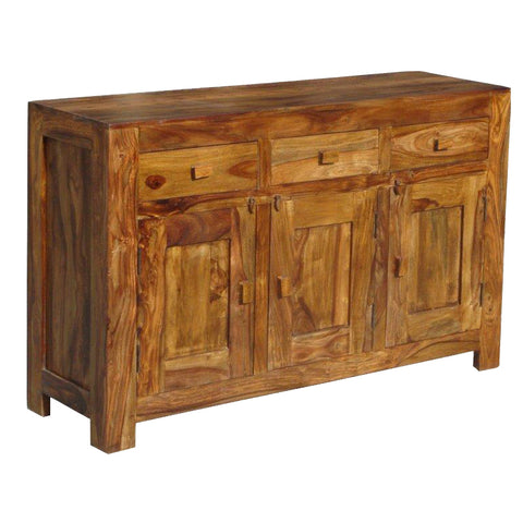 Sheesham 3 Drawer 3 Door Sideboard