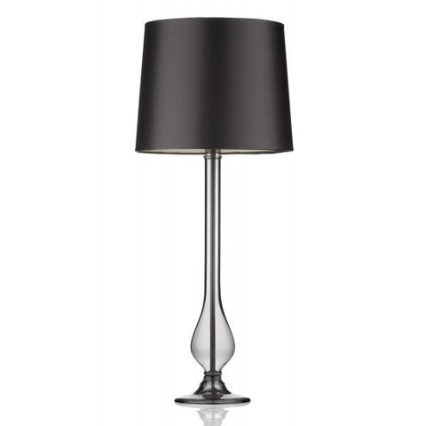 Dillon Smoked Glass Table Lamp With Shade