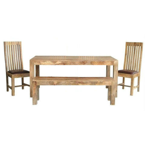 Mango Wood Light Dining Set *ex display*